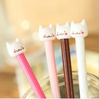 Wholesale customized yiwu stationery cat plastic ball-point pen office&school beautiful cheap funny pen from china suppliers