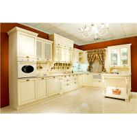 Quality classic Russian style white glazed kitchen cabinet for sale