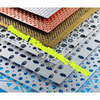Wholesale Decorative Perforated Metal Sheet , Round Hole Perforated Metal Screen Wall from china suppliers