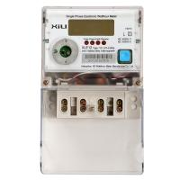 Quality Multifunction Credit electric energy meter / Polycarbonate kilowatt hour meter AC 230 Volt for sale