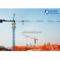 Quality QTZ 160 Self - Erecting Hammerhead Tower Crane 60 Meter Electric Top Slewing for sale