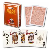Wholesale XF Modiano Texas Poker 2 Jumbo Index|brown Single Card Deck|100% Plastic Made in Italy|gamble cheat|magic trick from china suppliers