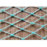Wholesale Green 380D Twisted Knotted HDPE Fishing Net for Fish Netting Cage / Fish Breeding Pond from china suppliers