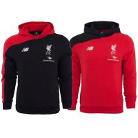 Wholesale Livepool Club Team Custom Football Hoodies Soccer Sweatshirt Red Black Adults from china suppliers