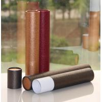 Wholesale Classical Leather Surface Cardboard Paper Cans Packaging with SGS Certification from china suppliers