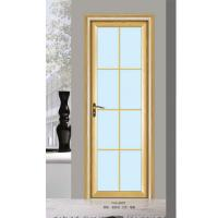 Buy cheap Silver Aluminium Glass Doors / Office Tempered Interior Glass Door from wholesalers