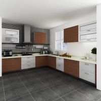 Wholesale Custom Painting White Melamine Kitchen Cabinets , Spray Paint Melamine Cupboards from china suppliers