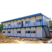Wholesale Rigid Durable Steel Frame Prefab Homes Fast Erection With Sandwich Panels from china suppliers
