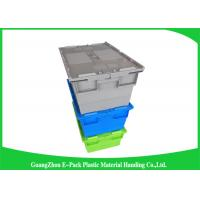 Wholesale Durable Turnover Logistics Opaque Plastic Storage Boxes With Lid for foods from china suppliers