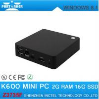 Buy cheap Mini PC Windows 8.1 2GB 16GB Intel Z3735F Quad Core Activated Windows with bing Mini PC from wholesalers