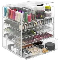 Wholesale New clear acrylic makeup organizer storage display from china suppliers