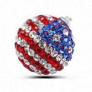 Wholesale Crystal Stone/Swarovski Strawberry Pendant, Italian Style from china suppliers