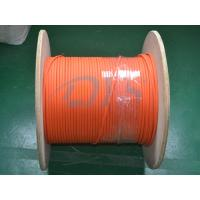 Wholesale Indoor 62.5 / 125um Fiber Optic Patch Cord , Orange Duplex Flat Fiber Optic Cable from china suppliers