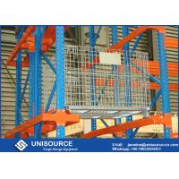 Wholesale Stacking Collapsible Wire Container Storage Cages Zinc Coated With Wooden Pallet from china suppliers