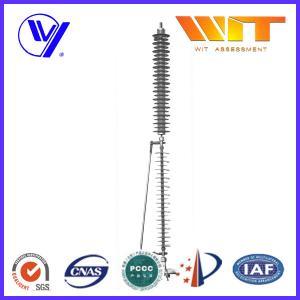 Wholesale 110KV Transmission Line Surge Arrester , KEMA Lightweight Lightning Protector from china suppliers