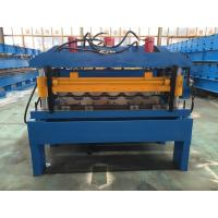 Wholesale Hydraulic Cutting Steel Roofing Tile Roll Forming Machine With Chain Drive 2-4m/Min from china suppliers