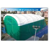 Quality 0.9mm Pvc Tarpaulin Green Inflatable Air Tent For Family Outdoor Events for sale