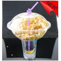 Wholesale 500ml Plastic Disposable Smoothie Cups For Milky Tea , Popcorn Bowl 1000ml from china suppliers