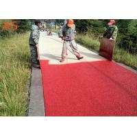 China Red Color Glossy Look Imprinted Concrete Colour Sealer For Residential Floor on sale