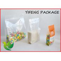 Wholesale Quad Seal Flat Bottom Pouch With Pocket Zipper For Seed Corn Packaging from china suppliers