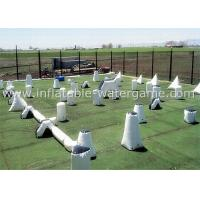 Wholesale PVC Inflatable Paintball Bunkers , Paintball Blow Up Bunkers For Outdoor Shooting from china suppliers