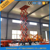 Wholesale 500kgs Hydraulic Hydraulic Lift Table Mobile Aerial Work Platform with 4 Wheels 8m Lifting Height from china suppliers