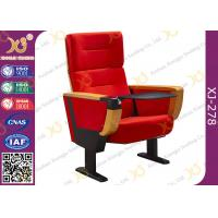 Wholesale Red Fabric Cover Stadium Theatre Seating Chairs With Drink Holder / Folded Movie Seats from china suppliers