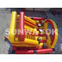 Wholesale Carriage Wheel Inflatable Bouncy Obstacle Course Inflatables Interactive Games from china suppliers
