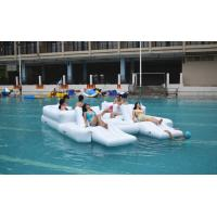 Wholesale White Color 6 Persons Inflatable Floating Island Lounge For Water Sports from china suppliers