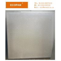 Wholesale 15mm Perforated Soundproof Fiberglass Ceiling Sound Dampening Panels Class A For hospital from china suppliers