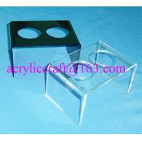 Wholesale 2 holes acrylic ice cream cone display stand, acrylic ice cream cone display holder from china suppliers