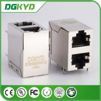 Wholesale Shielded Magnetics Dual Port Rj45 Connector OFFSET STACK JACK 100 BaseT from china suppliers