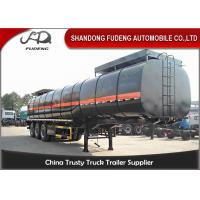 Wholesale Single Compartment 36000L Fuel Tanker Semi Trailer  2 Pieces Manhole Cover from china suppliers