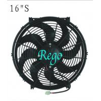 Wholesale 16 Inch Universal Electric Engine Radiator Cooling Fans 180W Power Curved Blade from china suppliers