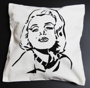 Wholesale Silkcreen printed Cotton Throw Pillows 40 x 40 cm Hidden zipper from china suppliers