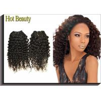 Wholesale Tangle Free Human Hair Indian Remi Kinky Curly Hair Extensions Double Weft from china suppliers