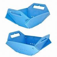 Wholesale Blue Plastic Fruit Basket for Storage and Home Decoration, Available in Various Colors from china suppliers