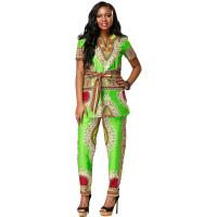 Wholesale Customized Size African Print Ladies Pants Suit For Summer / Spring / Autumn from china suppliers