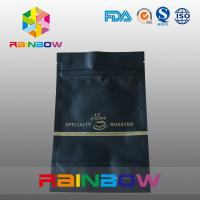 Wholesale Black matte ziplock coffee aluminum foil pouch packaging doypack bags from china suppliers