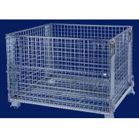 Wholesale Foldable security Wire Mesh Cages for warehouse storage3 ~ 4 levels stacking from china suppliers