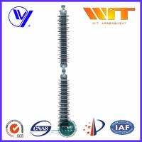 Wholesale Line Type Transformer Surge Arreste For Power Transmission , Grey Silicone Housing from china suppliers