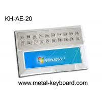 Wholesale Weather - proof Stainless Steel Ruggedized Keyboard with 20 keys for Medical Kiosk from china suppliers