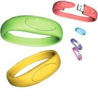 Wholesale wristband usb drives with 512mb 1g 2g 4g 8g 16g with original chip from china suppliers