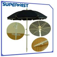Wholesale Outdoor  6 Feet Small Solid Color Beach Umbrella with Screw Base from china suppliers