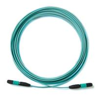 Wholesale MPO-MPO Aqua  Multimode OM3 patch cord pigtail 24 core 12 core fiber cable from china suppliers