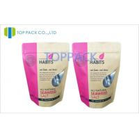 Wholesale Pink Laminated Plastic Stand Up Pouch Packaging With Square Corner For Frozen Food from china suppliers