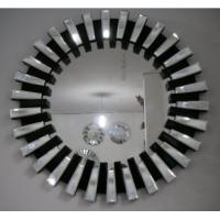 Wholesale Grey 3D Decorative Glass Mirrors , Art Work Mirror For Lift Lobby Decoration from china suppliers