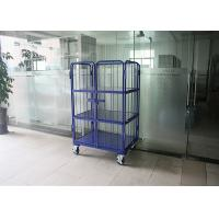 Wholesale 3 Tiers Steel Foldable Wire Mesh Cage , Wire Mesh Mobile Storage Cages from china suppliers