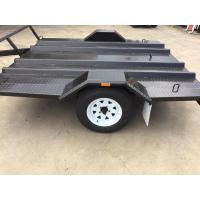 Wholesale Single Axle 8x6 Motorcycle Transport Trailer Two Place For Conveying Two Wheeler Bike from china suppliers