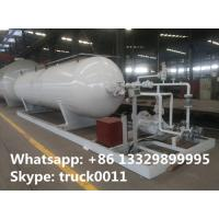 Wholesale 20,000L mobile skid-mounted lpg gas refilling station for gas cylinders, 8 metric tons skid-mounted propane plant from china suppliers